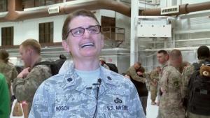 Iowa ANG 133rd Test Squadron Airman return home