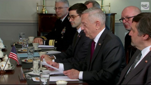 Mattis Welcomes Poland's Defense Minister to the Pentagon