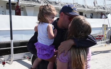 St. Petersburg based Coast Guard cutter returns home after 71-day deployment