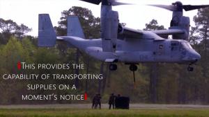 22nd MEU Marines perform external lifts with an MV-22 Osprey