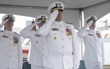 Coast Guard Holds Change of Command Ceremony for 14th District