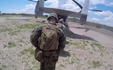 Marines rehearse TRAP with MV-22 Ospreys
