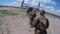 Marines rehearse TRAP with MV-22 Ospreys (B-Roll)
