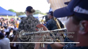 PP 18 Pacific Fleet Band performance at Sri Lanka Elementary School