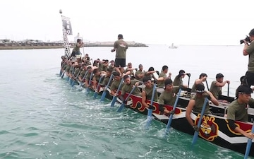 Heart of the Dragon - JGSDF and U.S. Marines team up, conquer a Naha Dragon Boat Race (B-Roll)
