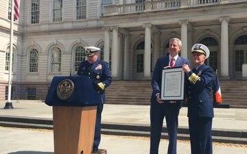 New York City designated 25th Coast Guard City