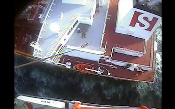 Coast Guard medevacs injured crew member near Freeport, Texas
