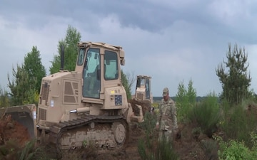 US Soldiers perform excavation maneuvers for Resolute Castle (B-Roll)