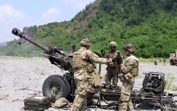Balikatan 18:1st Battalion, 21st Infantry Regiment, 25th Infantry Division, artillery assault