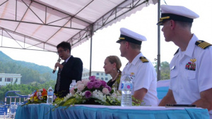 B-ROLL: PP18 holds the Malaysia Opening Ceremony and Reception aboard USNS Mercy hold Vietnam Opening Ceremony and Reception for PP18