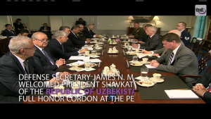 Mattis Meets With Uzbekistan's President