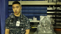 Petty Officer 3rd Class Alexander Tran speaks to the impact his team has had on the local community