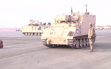 1st Armored Brigade Combat Team port operations
