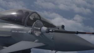 RAF Voyager Refuels RAF Typhoon