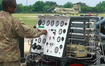 Soldiers with Task Force Panther Conduct Aviation Maintenance