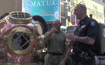 Navy Divers in Times Square