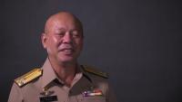 PALS 18: Royal Thai Marine Corps Vice Adm. Sangkorn Pongsiri, commandant, Royal Thai Marine Corps, and Royal Thai Navy Rear Adm. Chatchai Thongsaard, commander, Amphibious and Combat Support Service Squadron