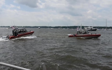 Coast Guard Station Annapolis enforces security zone during Blue Angels demo
