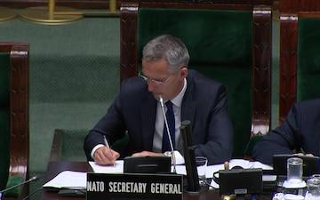 NATO Secretary General Attends the NATO Parliamentary Assembly