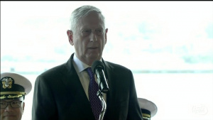 Mattis Attends Pacom Change of Command Ceremony