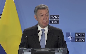 Visit to NATO by the President of Colombia, Joint Press Point