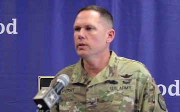 EXERCISE COL Hank Perry Press Conference EXERCISE