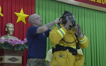 B-ROLL: PP18 conducts fire-fighting subject matter expert exchange in Vietnam