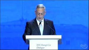 Mattis Speaks at International Institute for Strategic Studies Shangri-La Dialogue