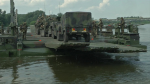 2CR SOLDIERS CROSS RIVER B-Roll