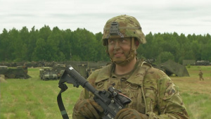 Lithuanian U.S. Soldier Interview (Lithuanian version) - Saber Strike 18
