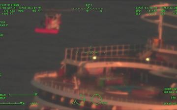 Coast Guard medevacs cruise ship passenger 100 miles east of Cape Hatteras, NC
