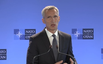 Meetings of NATO Ministers of Defense: Doorstep by Secretary General, IT Version