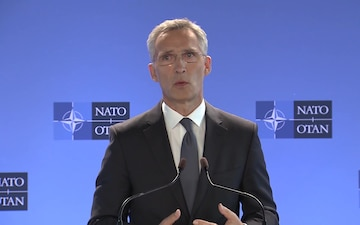 Meetings of NATO Ministers of Defense: Doorstep by Secretary General, Master Version
