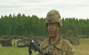 US Soldier returns to birth country, participates in Saber Strike exercise (B-Roll with interview)