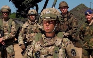 Saber Strike18 interview with Staff Sgt. Rachel Nally, launcher section chief, 5th Battalion, 7th Air Defense Artillery