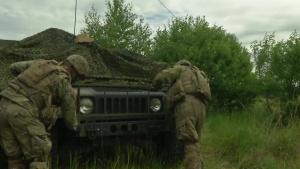 Camouflaging during Saber Strike 18