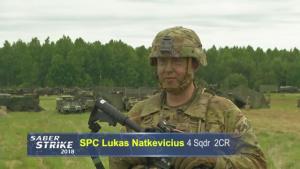 Lithuanian U.S. Soldier returns home during Saber Strike 18