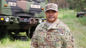 U.S. Army Reserve Soldiers with 361st CA BDE wish the U.S. Army a happy birthday