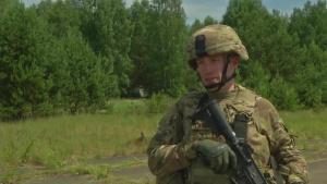 Capt. Paul Chandler 623 Field Artillery interview - Saber Strike 18