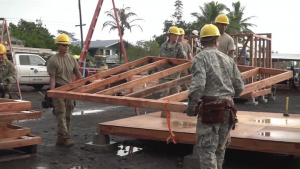 Hawaii National Guard Teams with Local Organizations to Build Housing