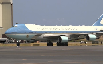Air Force One Stops at Joint Base Pearl Harbor-Hickam