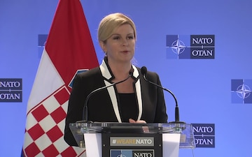 Visit to NATO by the President of the Republic of Croatia - Presser