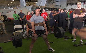 USS Harry S. Truman Strongest Man and Woman Competition