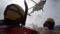 Coast Guard Air Station Kodiak aircrews conduct hoist training