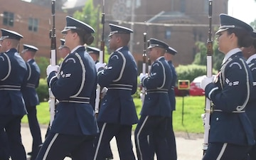 U.S. Air Force Honor Guard marches in Memorial Day parades