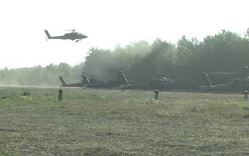 Task Force Viper Apache Helicopters Depart Zagan Poland