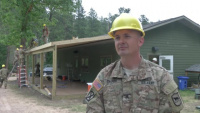 B-Roll - 155th Engineer Company Improves Local Theatre