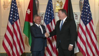 Secretary of State Mike Pompeo camera spray with King of Jordan