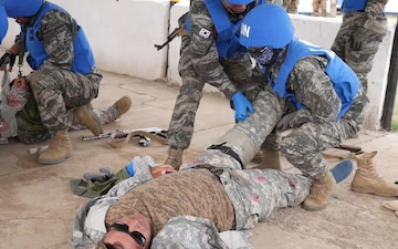 Republic of Korea Peacekeepers Conduct Tactical Combat Casualty Care Training