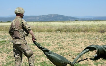 Sky Soldiers Team with Spanish Paratroopers to Conduct Joint Forcible Entry in Madrid